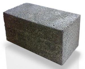 Шлакобетонный блок полнотелый 190*390*190