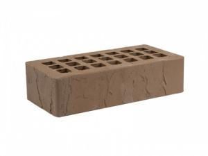 Кирпич облицовочный Железногорский темно-коричневый, Скала 1НФ