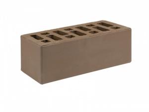 Кирпич облицовочный Старооскольский коричневый, Гладкий 1,4НФ