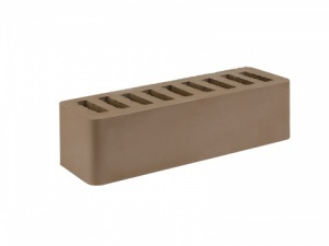 Кирпич облицовочный Старооскольский коричневый, Гладкий 0,7НФ