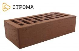 Кирпич облицовочный Брянский коричневый, Рустик 1НФ