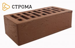 Кирпич облицовочный Брянский коричневый, Рустик 1,4НФ