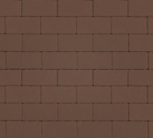 Тротуарная плитка 40мм гладкая, коричневая, Прямоугольник