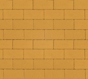 Тротуарная плитка 80мм гладкая, желтая, Прямоугольник