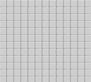 Тротуарная плитка 60мм гладкая, белая, Квадрат малый