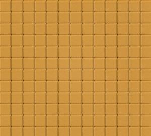 Тротуарная плитка 60мм гладкая, желтая, Квадрат малый