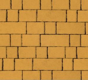 Тротуарная плитка 60мм гладкая, желтая, Старый город
