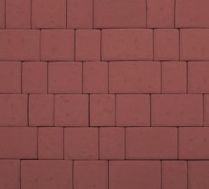 Тротуарная плитка 60мм гладкая, красная, Инсбрук Инн