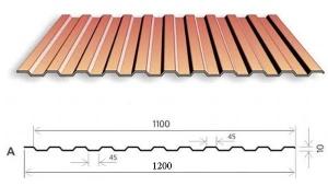 Профнастил МП-10 1200*2000, 0,5мм Ecosteel matt Textur