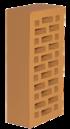 Кирпич облицовочный Новомосковский утолщенная стенка абрикос, Гладкий 1,4НФ