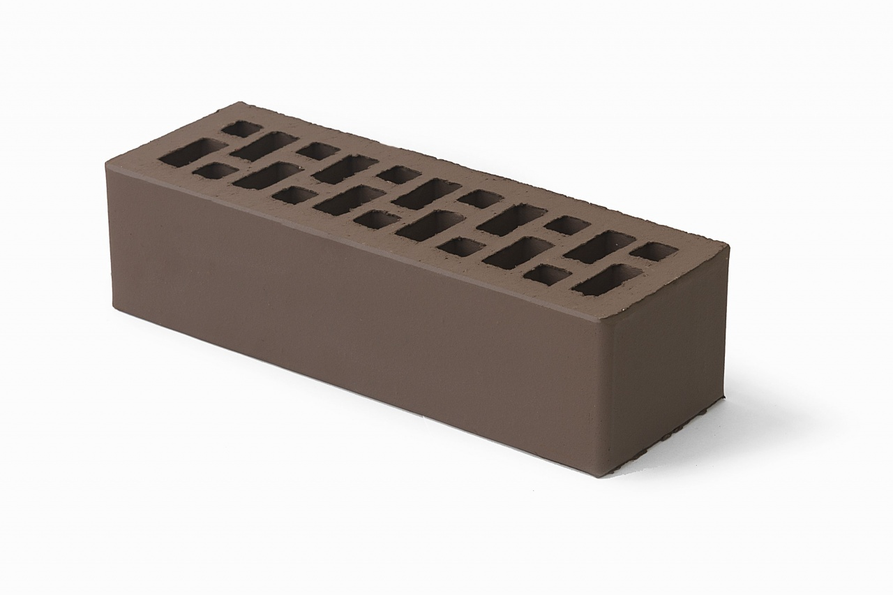 Кирпич облицовочный Braer коричневый, Гладкий 0,7НФ