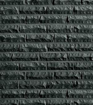Кирпич облицовочный клинкерный полнотелый Quebec schwarz-nuanciert bossiert