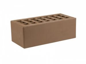 Кирпич облицовочный Железногорский темно-коричневый, Гладкая 1,4НФ
