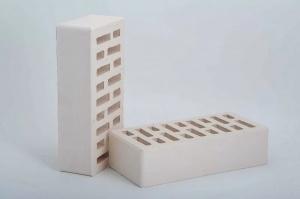Кирпич облицовочный Строительский белый, Гладкий 1,4НФ