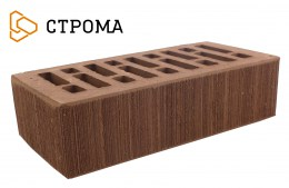 Кирпич облицовочный Брянский коричневый, Бархат 1НФ
