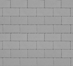 Тротуарная плитка 40мм гладкая, серая, Прямоугольник