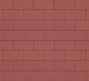 Тротуарная плитка 40мм гладкая, красная, Прямоугольник
