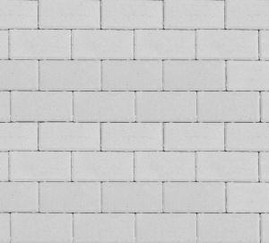 Тротуарная плитка 80мм гладкая, белая, Прямоугольник