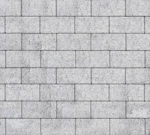 Тротуарная плитка 80мм бассировка, белая, Прямоугольник