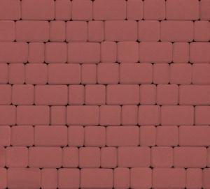 Тротуарная плитка 40мм гладкая, красная, Инсбрук Альт