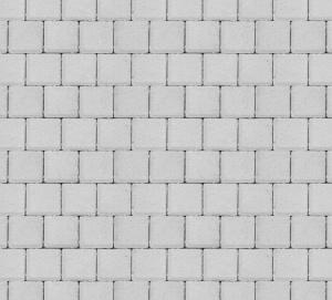 Тротуарная плитка 60мм гладкая, белая, Квадрат большой
