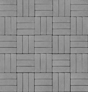 Тротуарная плитка 60мм гладкая, серая, Паркет