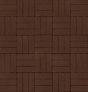Тротуарная плитка 60мм гладкая, коричневая, Паркет