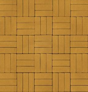 Тротуарная плитка 60мм гладкая, желтая, Паркет