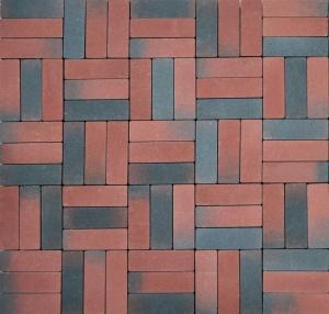 Тротуарная плитка 60мм гладкая, корунд, Паркет