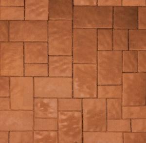 Тротуарная плитка 60мм гладкая, оранжевая, Новый город