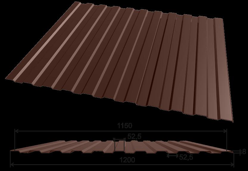 Профнастил С-8 1200*2000, 0,3мм полиэстер