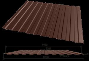 Профнастил С-8 1200*2000, 0,45мм полиэстер двухсторонний