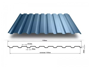 Профнастил МП-20, 1150*2000, 0,5мм Пластизол