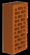 Кирпич облицовочный Новомосковский утолщенная стенка  красный, Гладкий 1,4НФ