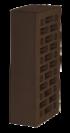 Кирпич облицовочный Новомосковский утолщенная стенка  шоколад, Гладкий 1,4НФ