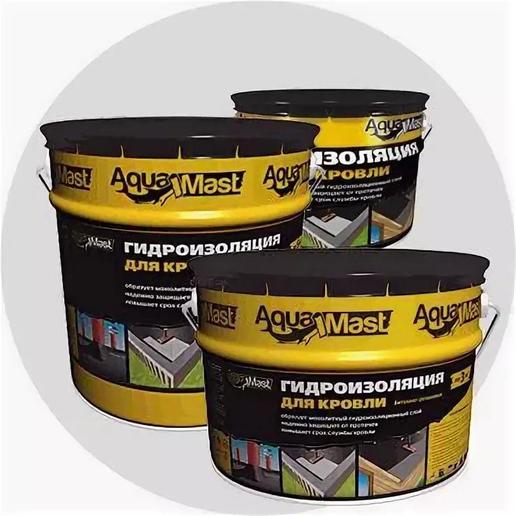 Гидроизоляция AquaMast для кровли 3кг