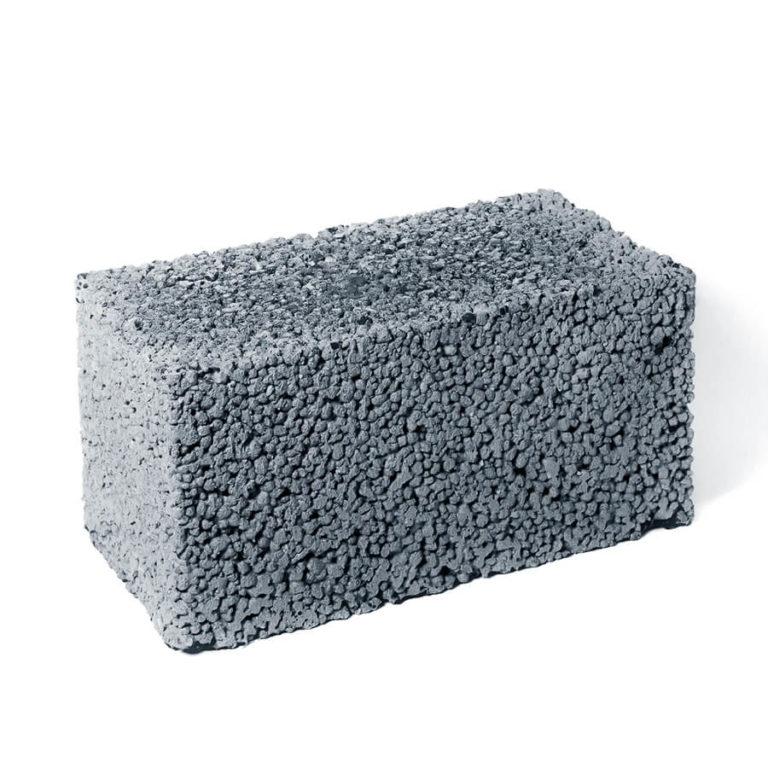 Керамзитобетонный блок полнотелый 190*390*190